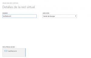 Creación de la Red Virtual (1/2)