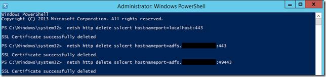 Remove SSL Cert