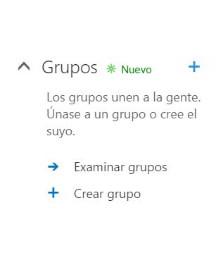 Creación de grupos habilitada