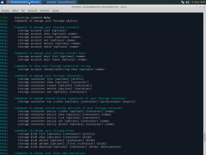 Azure CLI storage help