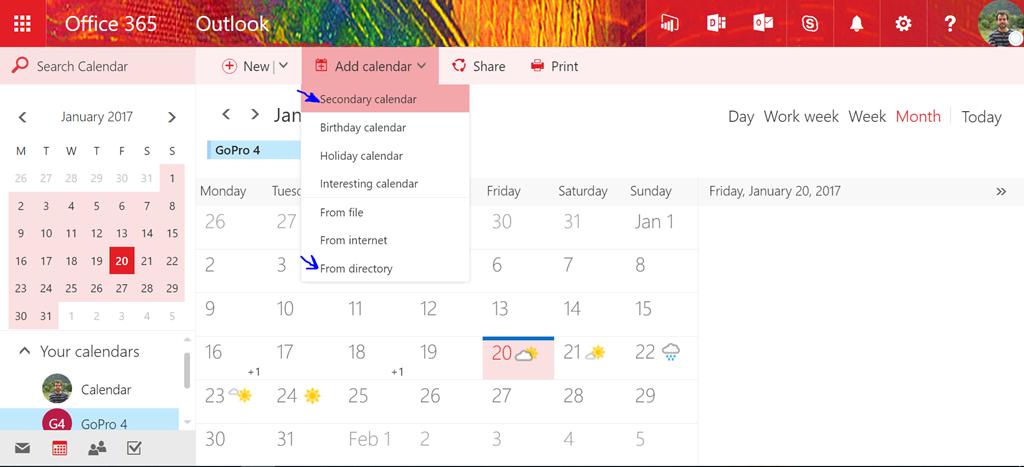 Calendario Office 365.Office 365 Como Agregar Un Nuevo Calendario En Owa I