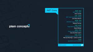 Cartelera evento .net core de plain concepts