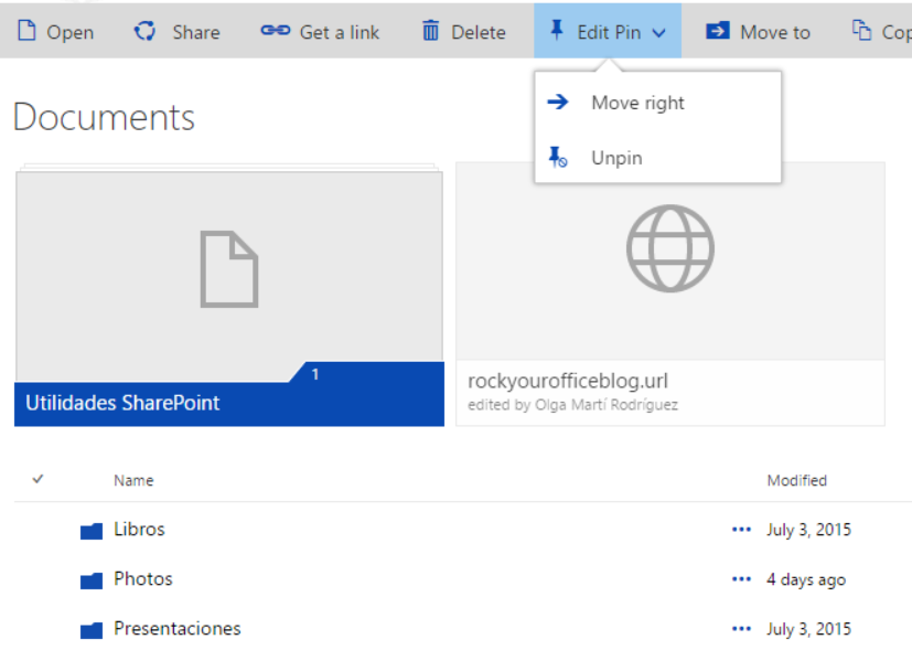 SharePoint Pin to Top