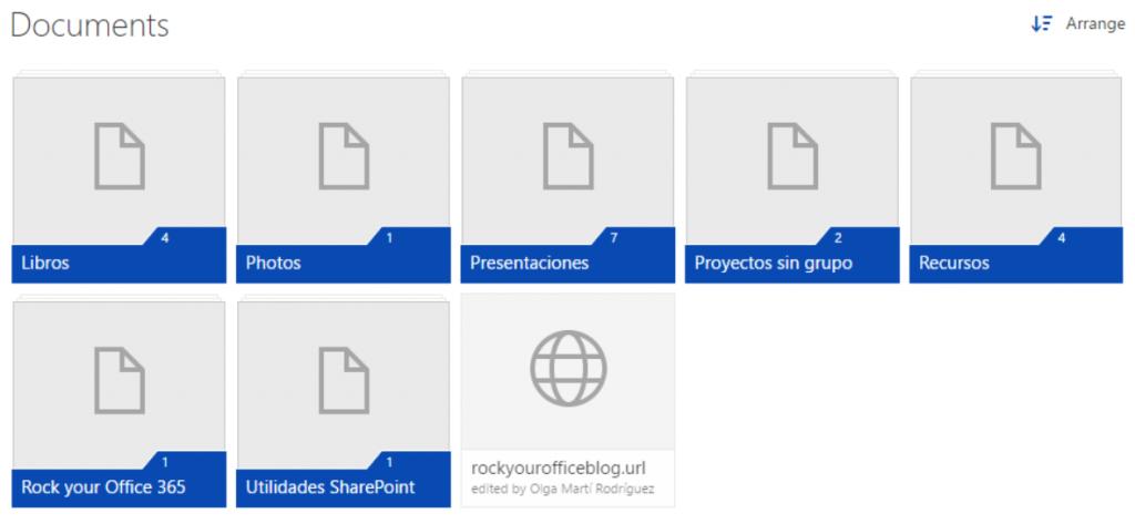 SharePoint Tiles Vista