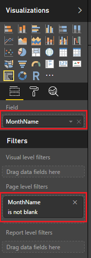 Filtro is not blank en el slicer de Power BI
