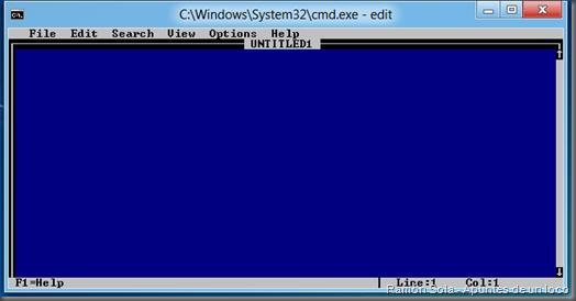 El viejo Edit funcionando en Windows 8 Developer Preview x86 (32 bits)