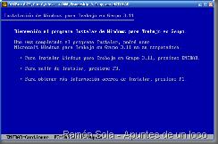 Instalación de Windows 3.11 en DOSBox (modo de texto)