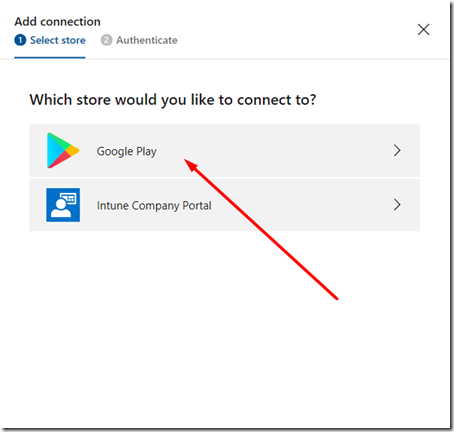 02 - Mobile Center - Add Connection Google Play