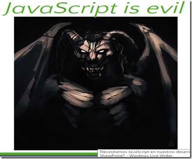 JavaScriptEvil