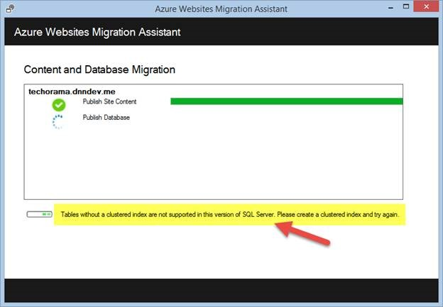 Using the Azure Websites Migration Assistant to migrate a DNN