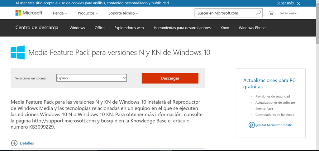 Windows 10]: Media Feature Pack para versiones K y KN–Update! – Blog
