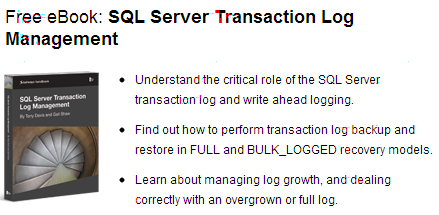Free eBook: SQL Server Transaction Log Management