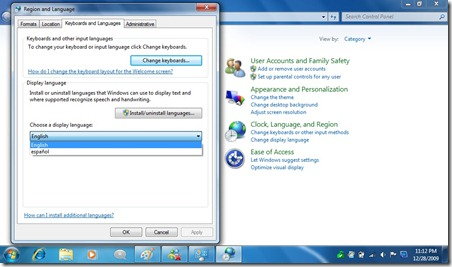 Installing Language Pack e