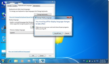 Installing Language Pack f