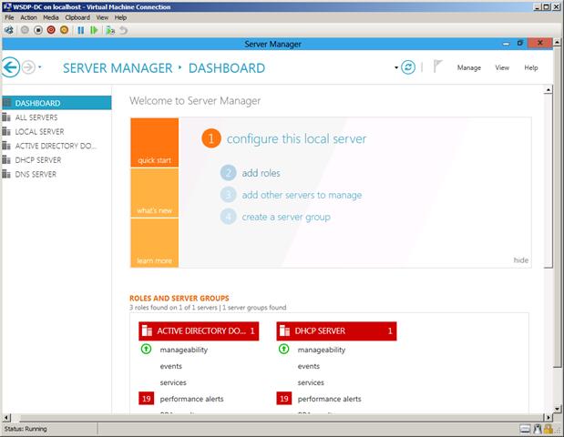 Implementación de escenario: Windows Server Developer
