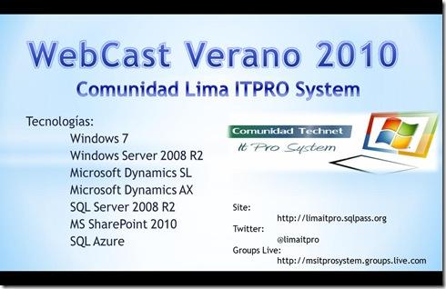 WebCast Verano 2010