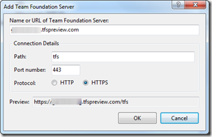 Conectar a Team Foundation Server Service Preview