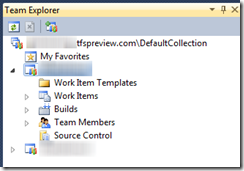 Team Explorer TFS Service Preview