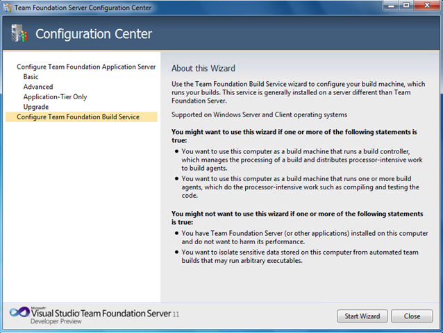 Configuración Team Foundation Server 11