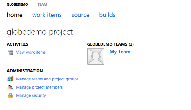 Home proyecto Team Foundation Server 11