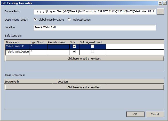 Office 365: No es posible usar los controles de Telerik en