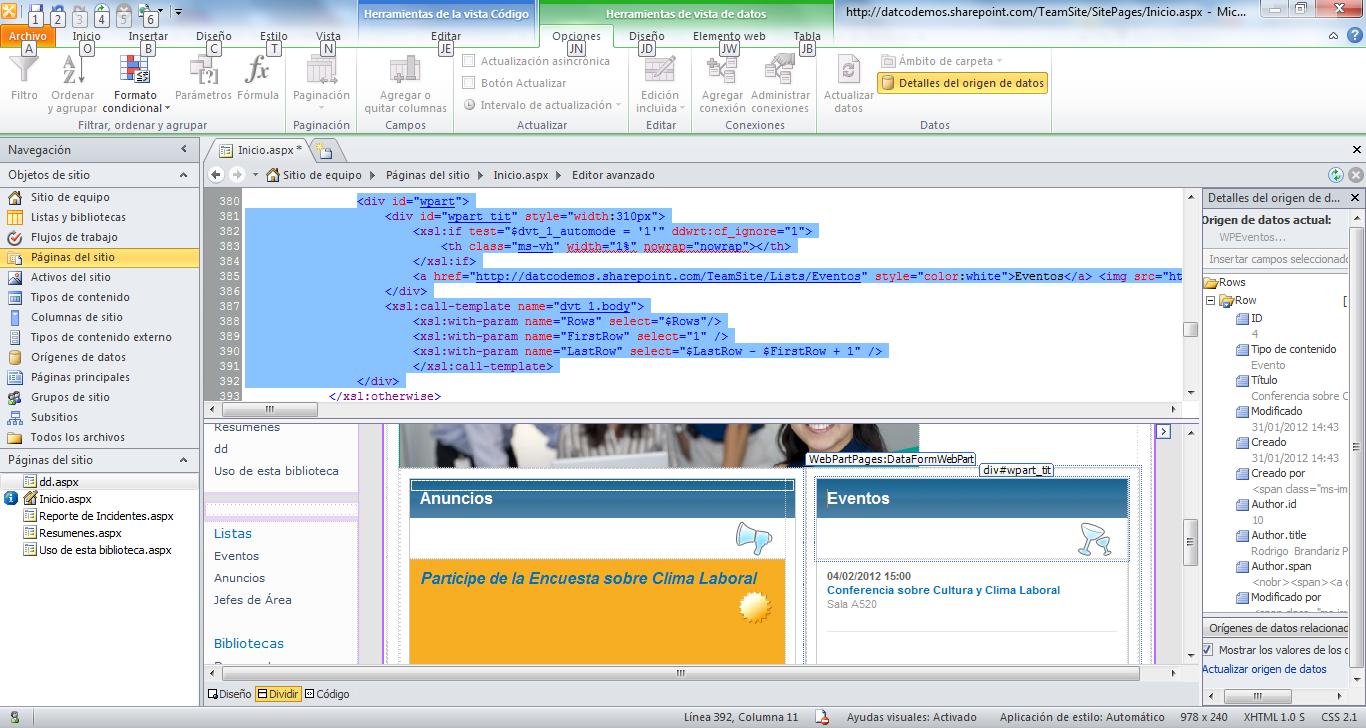 Diseñando webparts con XSLT – Parte I (Mi Primer WebPart) – Blog de ...