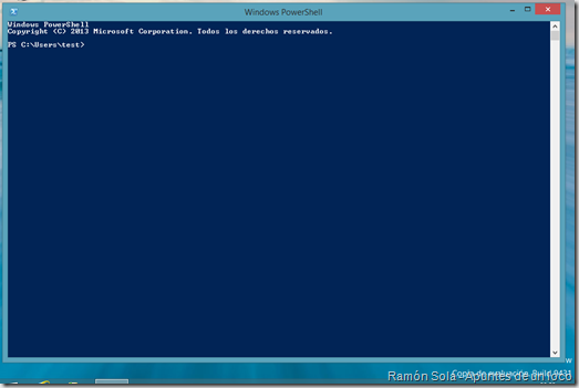 PowerShell en Windows 8.1 Preview