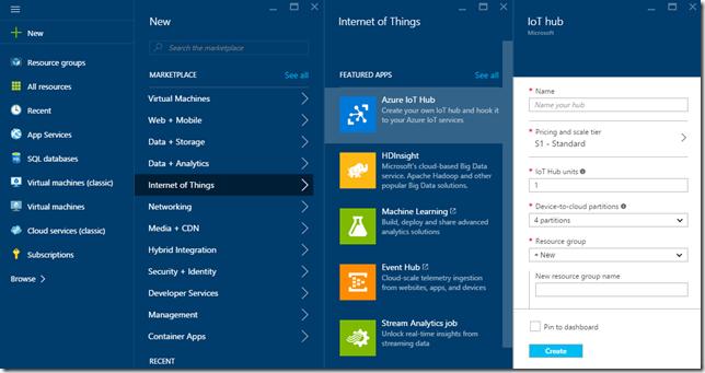 Azure IoT nuevo Hub