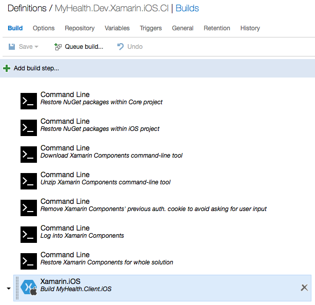 Xamarin.IOS CI Build Definition in VSTS